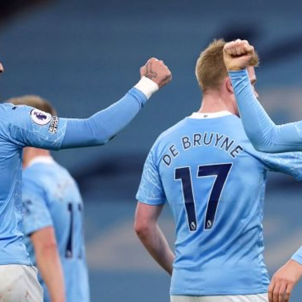 Man City lay down title marker as Stones bags brace in Palace rout